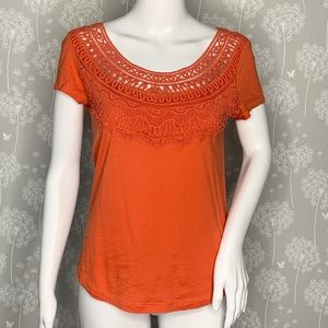 Anthropologie Meadow Rue Top Size Small Orange